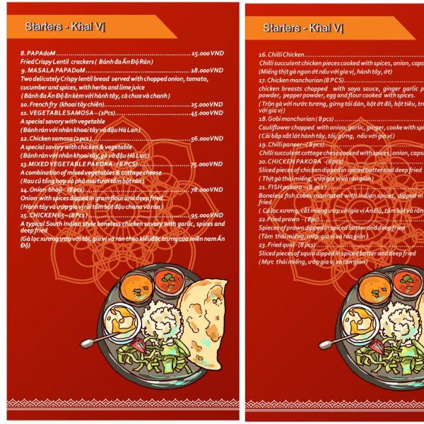 In menu/thực đơn Offset Bình Dương 1